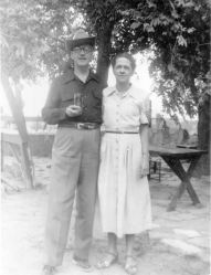 Ted and Maggie, May 1952