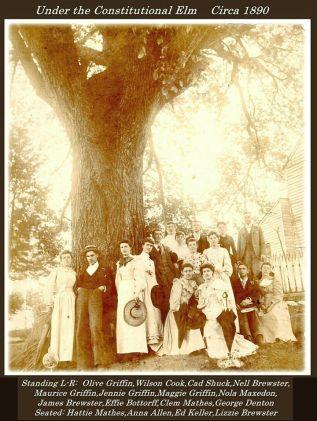Wilson Cook (husband of Elizabeth Applegate Cook), 2nd from left, 1890