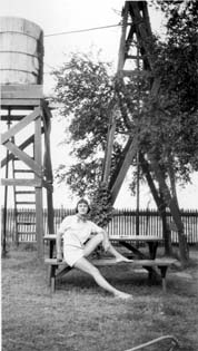 Ann in Monahans, about 1950