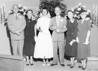 Ann's wedding to Larry Skylstad, April 1954