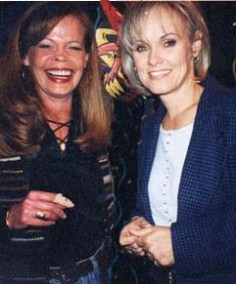 Pete's wife, Carolyn, and Julie, 1987