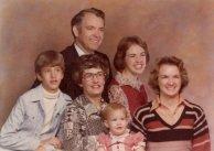 Grace, Richard and children, Dec. 1976