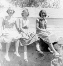 Grace, Rica, Sue, Monahans, 1952