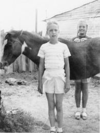 Grace and Rica and Baby, Monahans, 1949