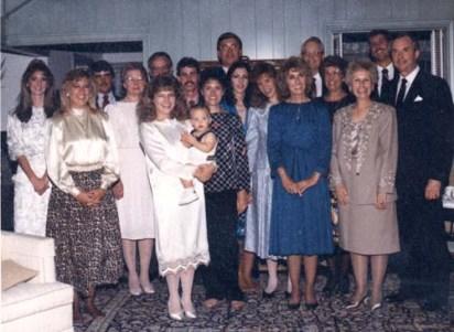Sue's and Marshall's wedding, 1987