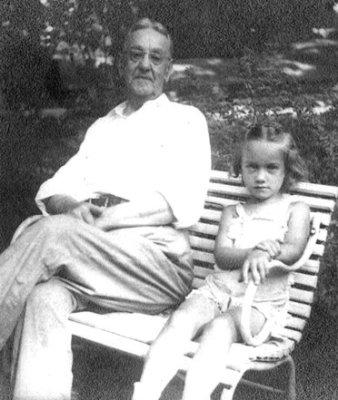 Papa and Sue in Corydon, 1942