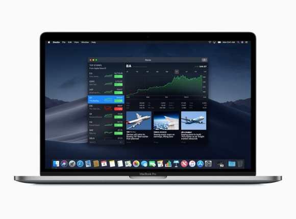 macOS Mojave: Stocks