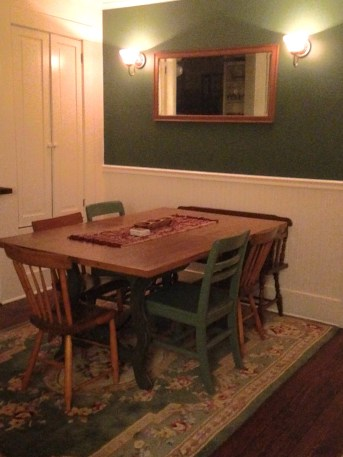 The dining room corner