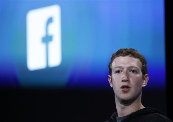 Mark Zuckerberg during a Facebook press event to introduce 'Home' a Facebook app suite in Menlo Park