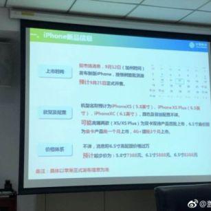 China iPhone leak