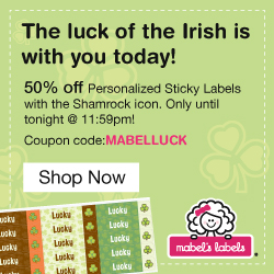50% off Shamrock Labels today!!!