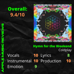Review of Hymn for the Weekend by Apple Music Reviews