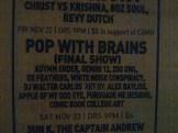 @ Pop with Brains