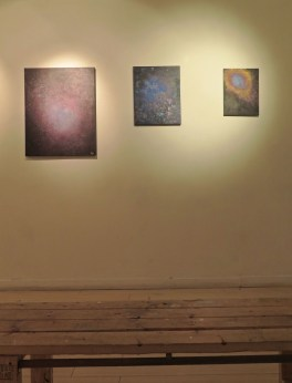 My pieces, on a gallery wall.
