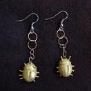 Sarah's scarab beetle earrings
