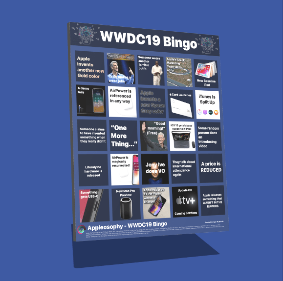 The WWDC19 Bingo Kit: Have even more fun by playing WWDC19 Bingo while watching the WWDC19 Keynote