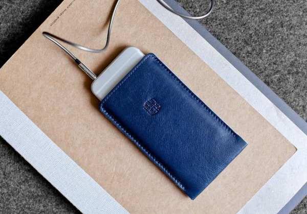 Купить синий кожаный чехол для iPhone 6/6s/7/8 Handwers ...