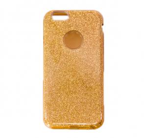 Золотой силиконовый чехол-накладка с блестками для Айфона ...