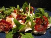 Mozzarella, tomato and rocket salad