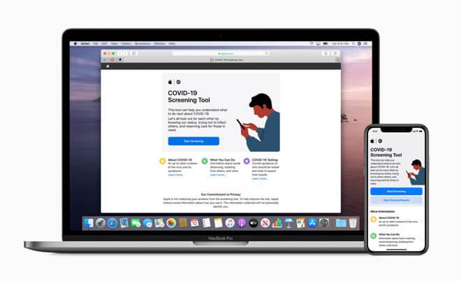 Существующие приложения и ссылки Apple на COVID-19