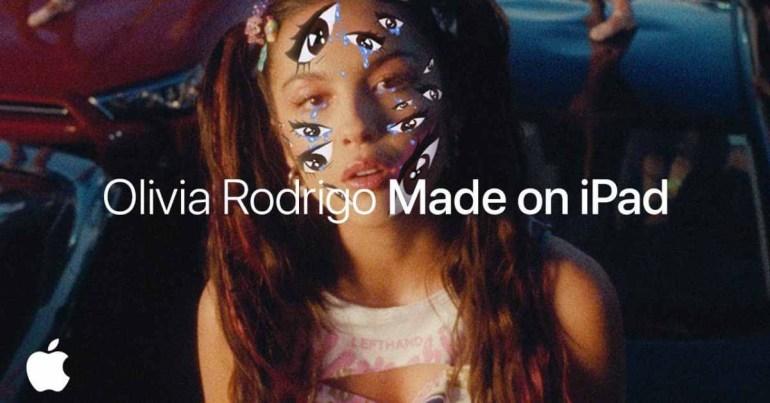 Apple продвигает музыкальное видео Оливии Родриго как «Сделано на iPad»