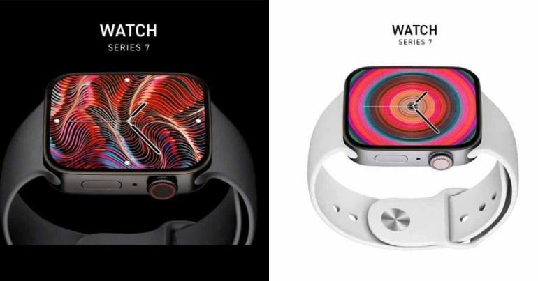 Рендеры Apple Watch Series 7 2021 года демонстрируют ожидаемый плоский дизайн