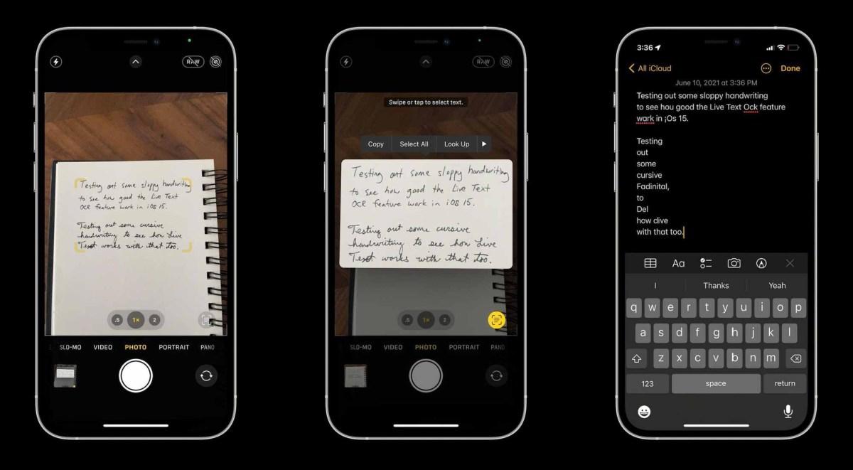 Как использовать iPhone Live Text в iOS 15 - рукописный ввод