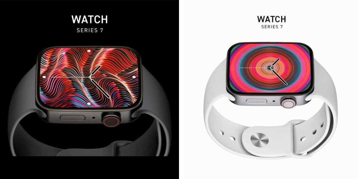 2021 рендеринг Apple Watch Series 7