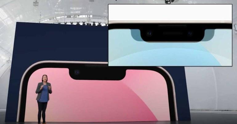 Вырез iPhone 13 на 20% меньше по ширине, но при этом немного выше по высоте.