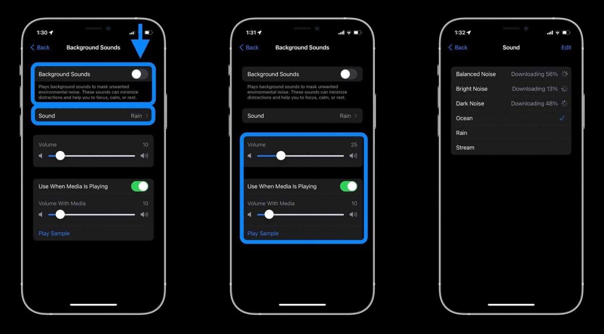 Как использовать фоновые звуки iPhone в iOS 15