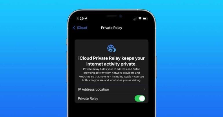 Как включить / выключить частное реле iCloud в iOS 15