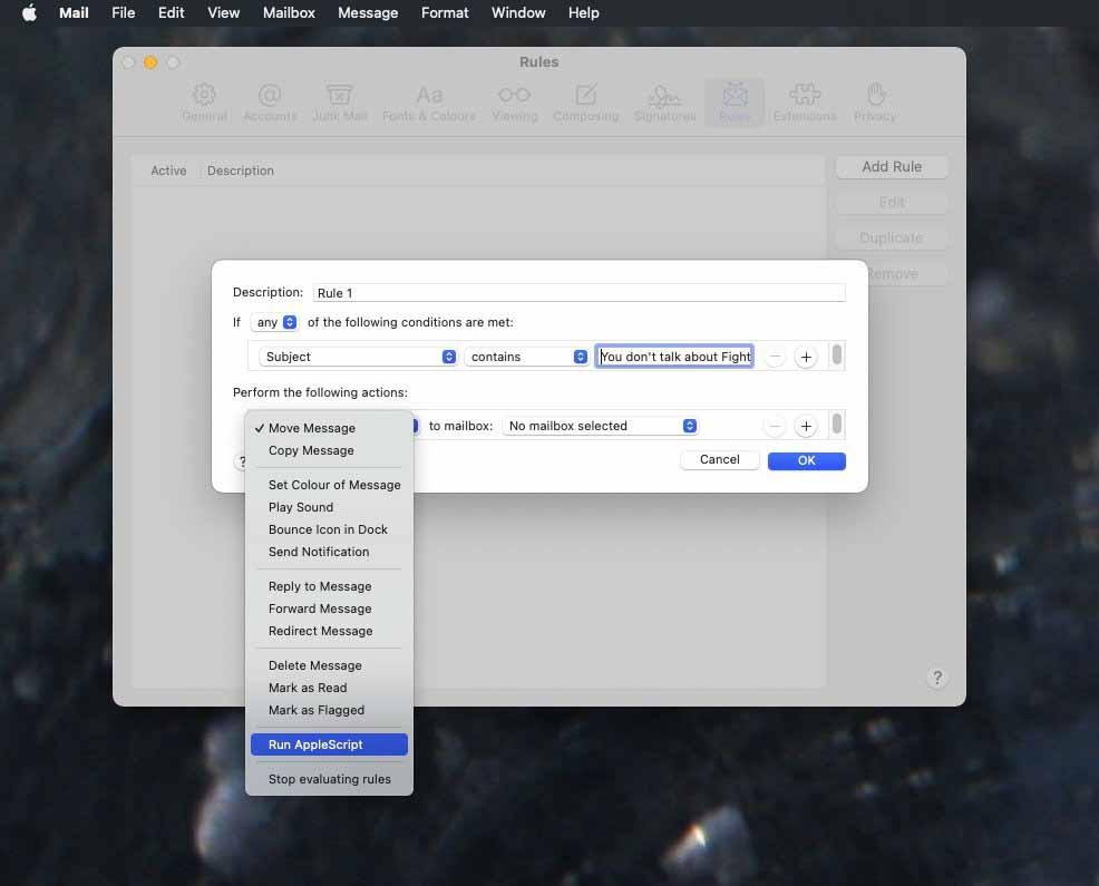 У Mac Mail больше возможностей, чем у iOS на устройстве, но правила iCloud все же улучшают его
