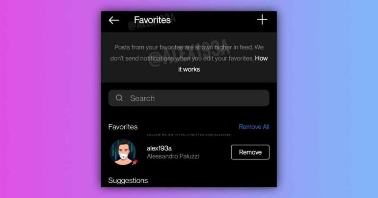 Instagram работает над новой функцией «Избранное», чтобы оценить ваших близких друзей
