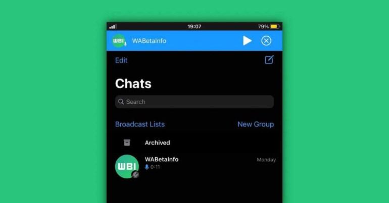 WhatsApp для iOS работает над улучшением проигрывателя голосовых сообщений