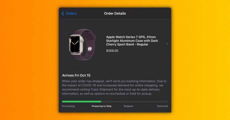Заказы на Apple Watch Series 7 готовятся к отправке перед выпуском в пятницу