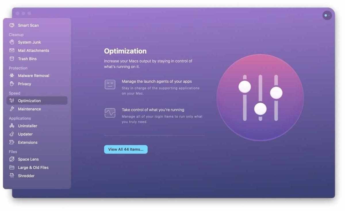 Оптимизация может поддерживать ваш Mac в отличной форме и позволяет вам сохранять контроль.