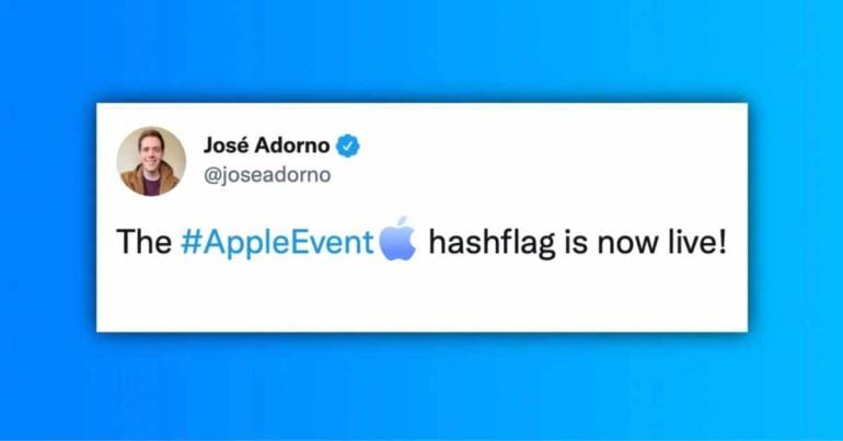 Apple обновила хэш-флаг #AppleEvent в Twitter после официального объявления