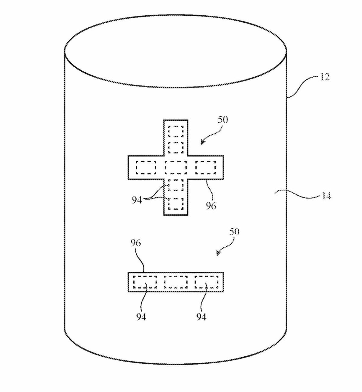 Деталь из патента, показывающая элементы управления