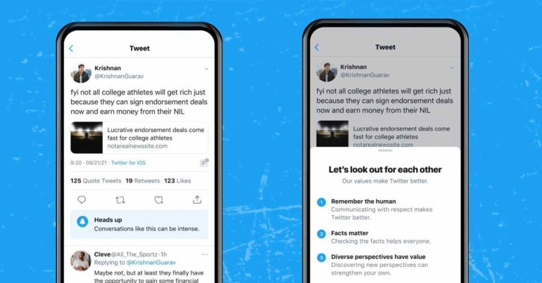 Twitter теперь предупредит вас, прежде чем вы начнете разговор, который может стать жарким.