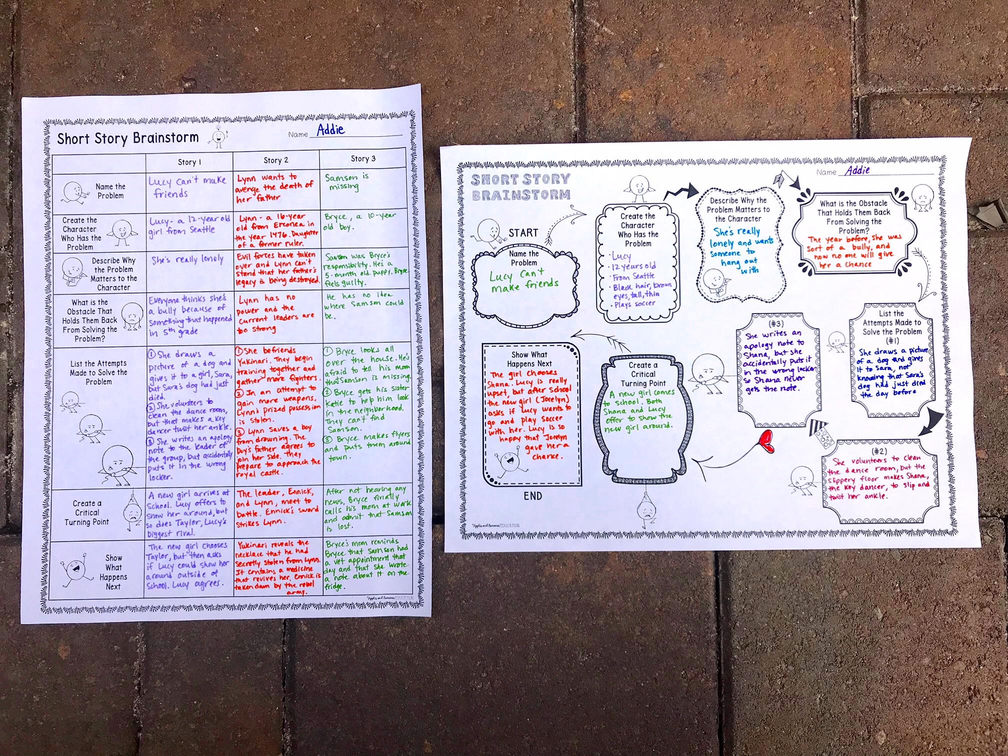 Narrative Essay Brainstorm
