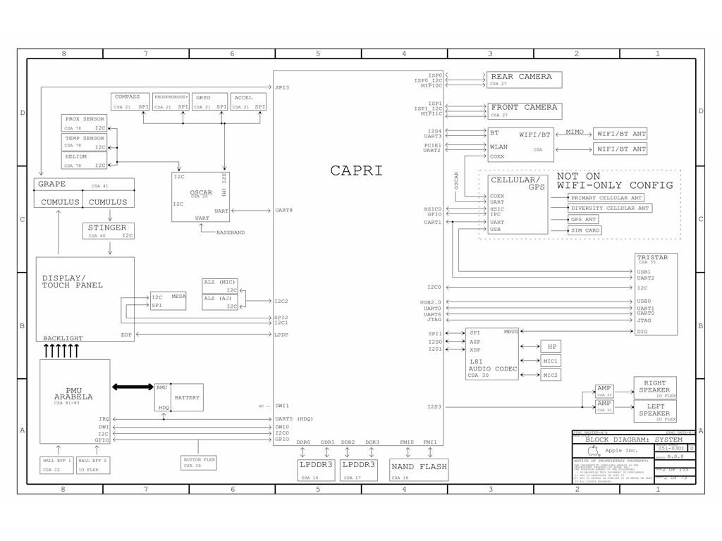 Apple Ipad Air 2 Rl Evt Mlb B 820 05 Schematic