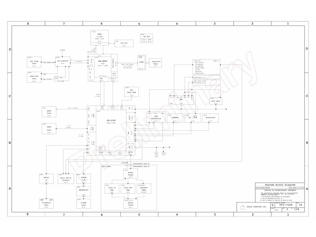 Apple Imac G5 20 A Schematic Sch M72 Mlb Apple