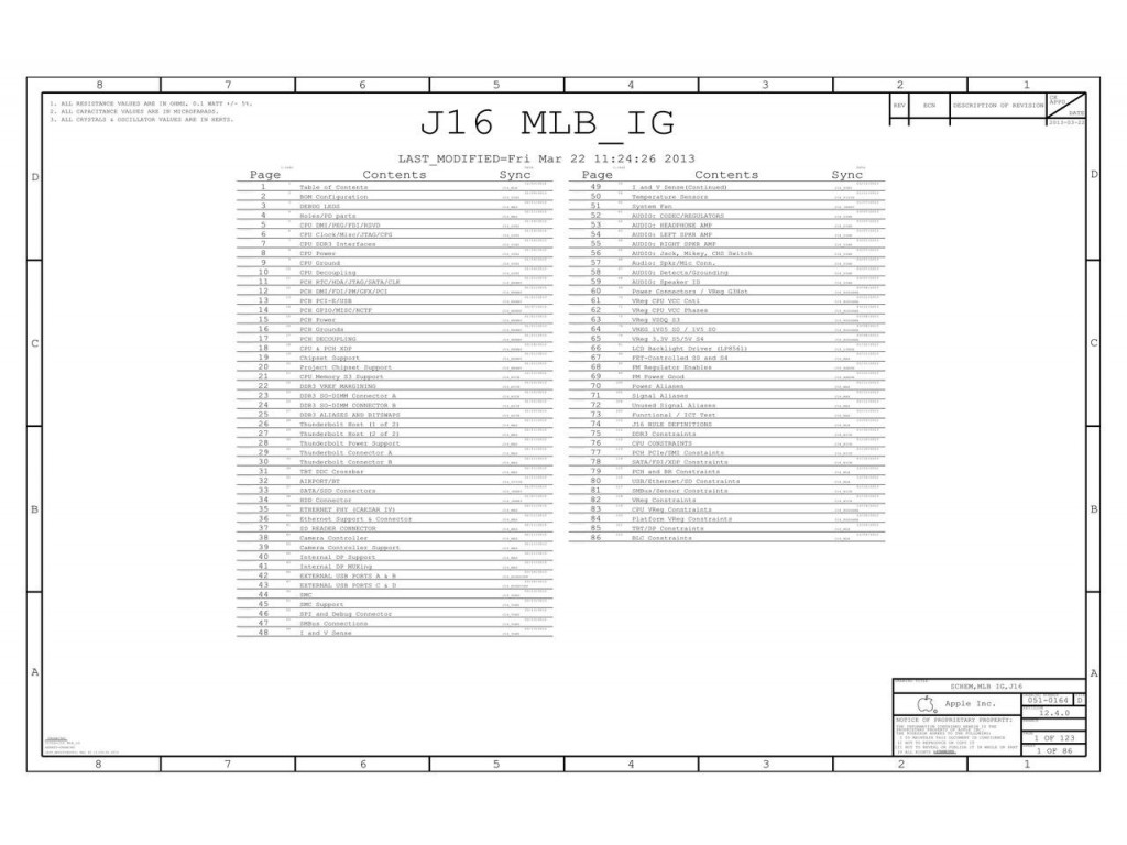Apple J16 Mlb Ig 820 A 051 Schematic Apple J16
