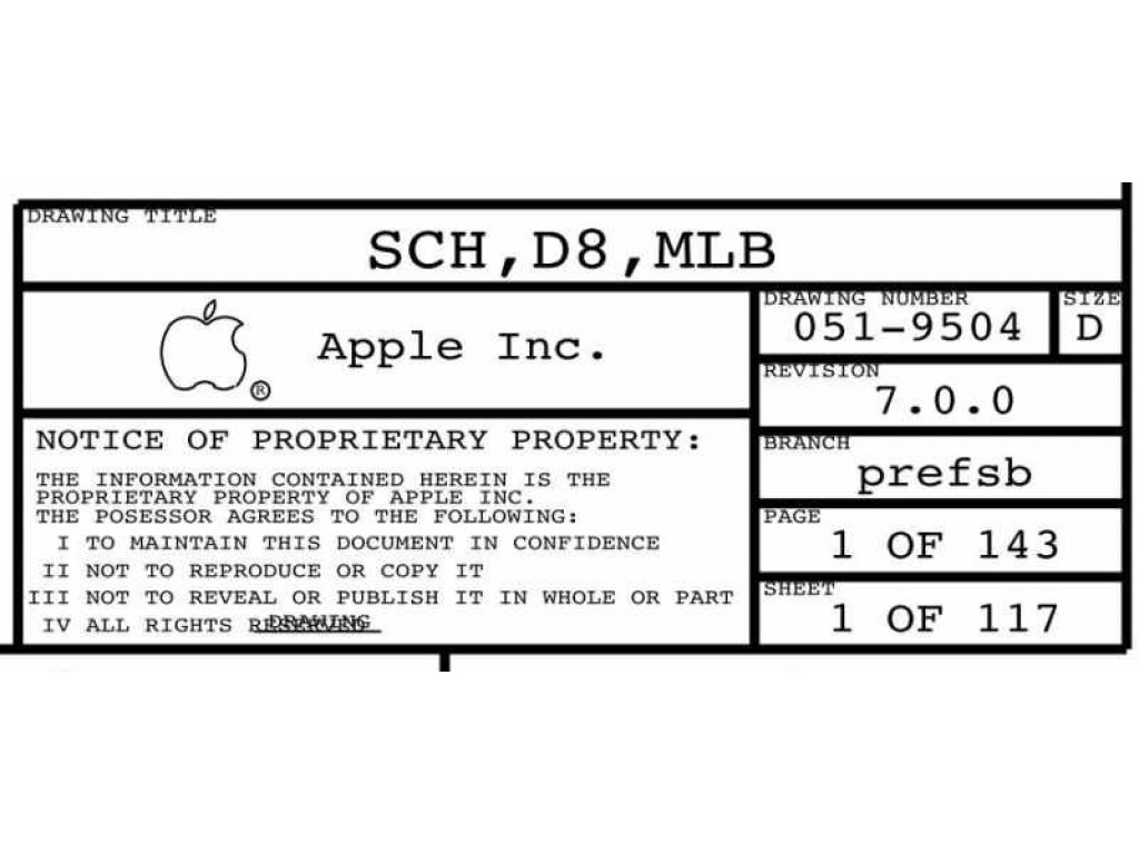 Apple D8 Mlb Schematic 820 Sch D8 Mlb Apple D8