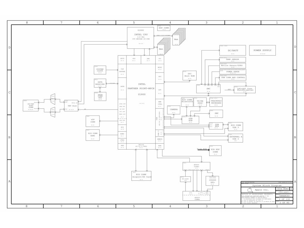 Apple A 820 A Schematic Apple A 820 A