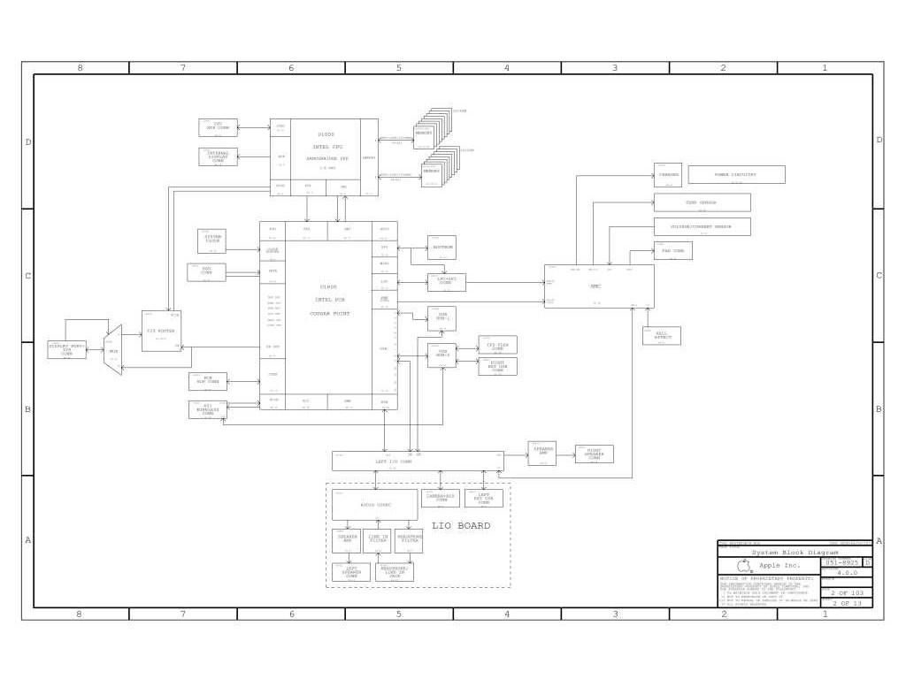 Apple Macbook Air A Lio Board Schematic Schem Pcb