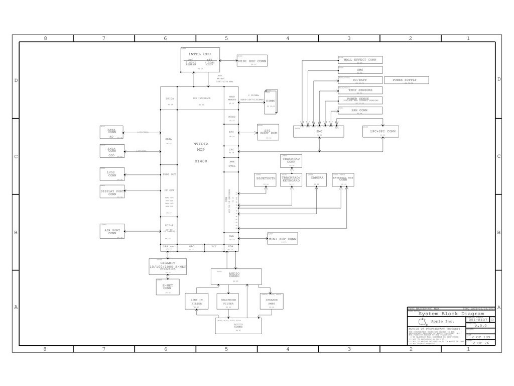 Apple K86 Schematic Diagram Apple K86 Schematic Diagram