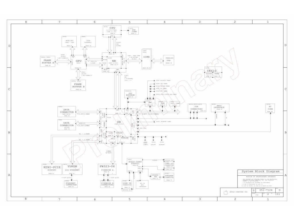 Apple Imac 20 A Logic Board Schematic M60 Pvt