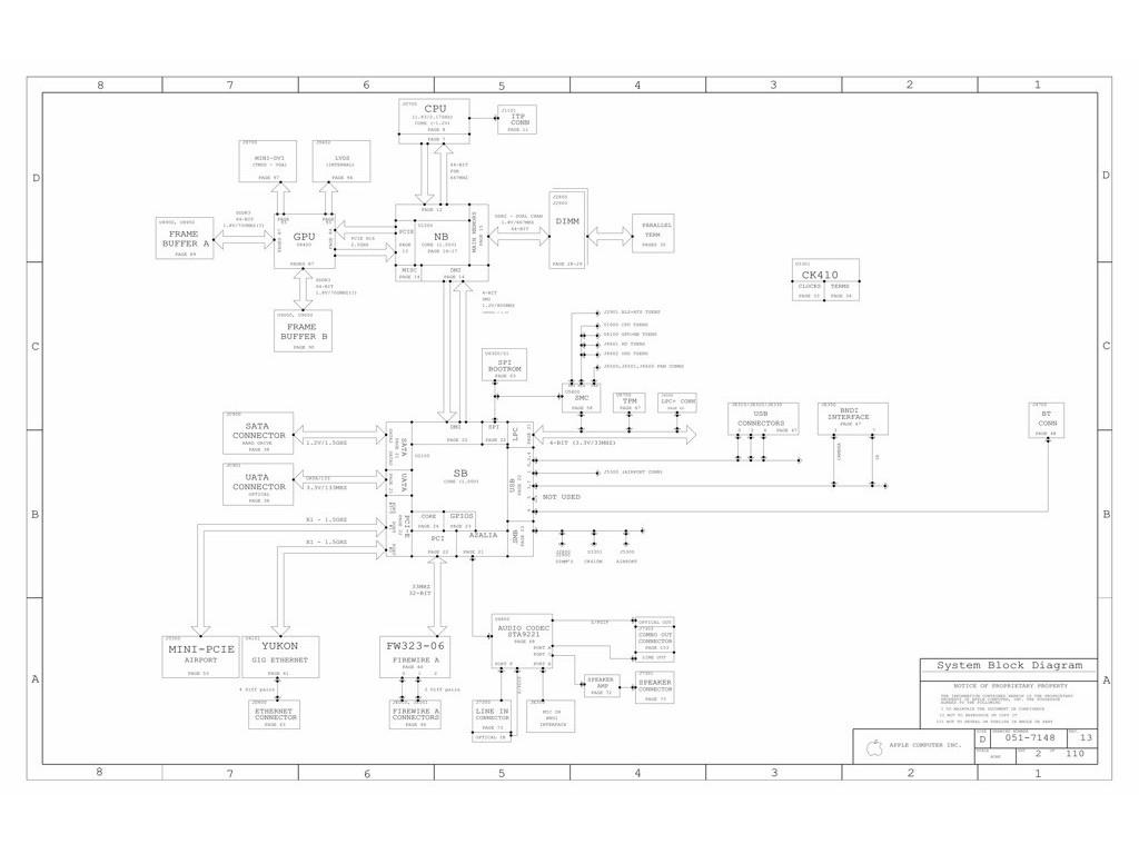 Apple Imac G5 17 Logic Board Schematic M38a Dvt Apple