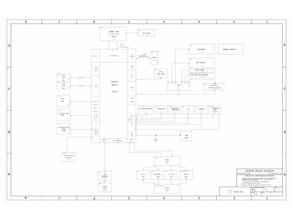 Apple Macbook Pro A 13 Schematic K24 Mlb Apple